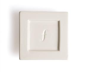 2入陶瓷方型茶托 Tea Tray (白瓷) Ceramic Tray - Bone White